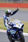 MOT: British Superbike warm up Royalty Free Stock Photos