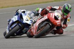 MOT: Britse opwarming Superbike Stock Afbeelding