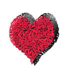 mot broken digital hjärtaillustration splittrad white Arkivbilder