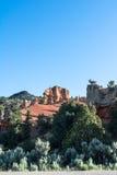 In mot Bryce Canyon Utah Arkivbilder