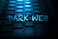 Mot-clé foncé de Web sur le clavier illustration de vecteur