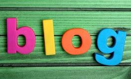 Mot coloré de blog image libre de droits