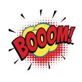 Mot comique de boom illustration de vecteur