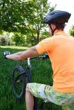 mot cykelnaturracer Arkivbilder