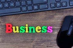 Mot d'affaires sur la table Image libre de droits