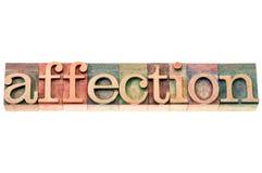 Mot d'affection dans le type en bois Image libre de droits