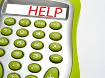 mot d'aide de calculatrice image libre de droits