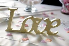 Mot d'amour à un mariage Image libre de droits