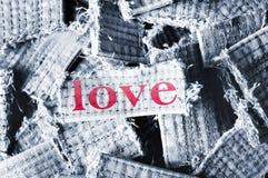 Mot d'amour Photos stock