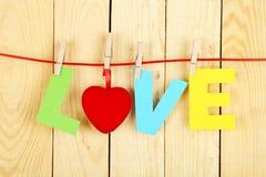 Mot d'amour Photo libre de droits