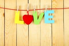Mot d'amour Photographie stock libre de droits