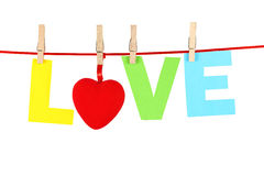 Mot d'amour Photos libres de droits