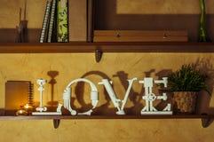 Mot d'amour Image libre de droits