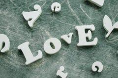 Mot d'amour Image stock