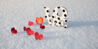Mot d'amour la Saint-Valentin Image libre de droits