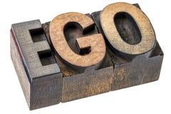 Mot d'amour-propre dans le type en bois blocs d'impression typographique Photos libres de droits