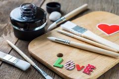 Mot d'amour sur la photo instantanée vide Image libre de droits