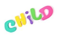 mot d'enfant Photographie stock libre de droits