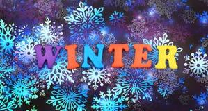 mot d'hiver Photographie stock libre de droits