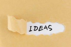 Mot d'idées Image libre de droits