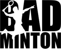 Mot de badminton avec la silhouette Image libre de droits