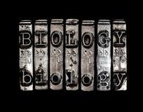 Mot de biologie photographie stock