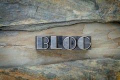 Mot de blog dans le type en métal Image libre de droits