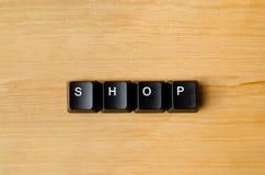 Mot de boutique Images libres de droits