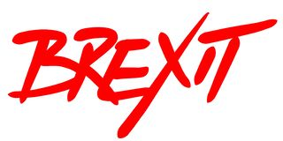 Mot de BREXIT écrit à la main avec une police rouge photos libres de droits