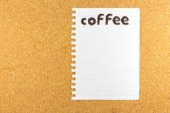 Mot de café fait à partir des grains de café Images libres de droits