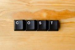 Mot de coût Images libres de droits
