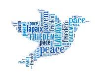 Mot de concept d'agencement de paix Images stock