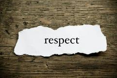 Mot de concept sur le papier - respect image stock