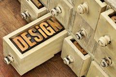 Mot de conception - concept dans le type en bois Photos stock