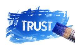 Mot de confiance de peinture illustration libre de droits