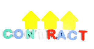 Mot de contrat Image libre de droits