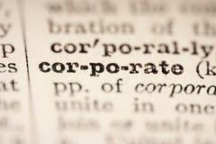 Mot de corporation Image stock