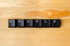 Mot de couples Photo libre de droits