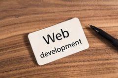 Mot de développement de Web image libre de droits