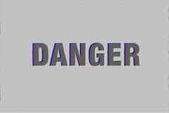 mot de danger avec l'effet de problème Photographie stock libre de droits