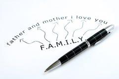 Mot de FAMILLE Images libres de droits