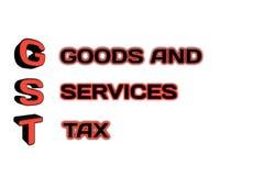 Mot de GST dans l'illustration 3d Image libre de droits