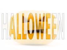 Mot de Halloween Photographie stock