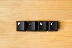 Mot de jeu Photo libre de droits