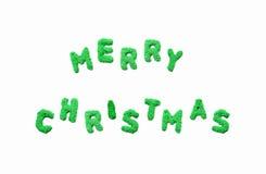 Mot de Joyeux Noël du sable Photos libres de droits