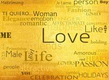 Mot de l'amour sur le fond de luxe Image stock