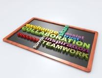 Mot de la collaboration 3d Images libres de droits