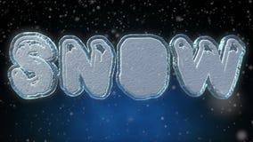Mot de la neige 3D - animation de bouclage des textes illustration libre de droits