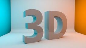 mot de lettre des textes 3D Photographie stock libre de droits