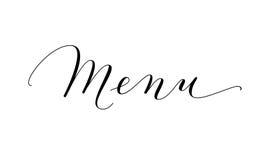 Mot De Menu Calligraphie Faite Sur Commande écrite Par Main D